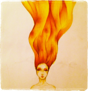 fire_hair_sketch_by_godessslayingmachine-d7d213d