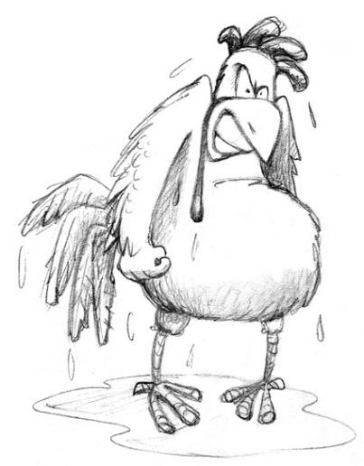 wet setting hen