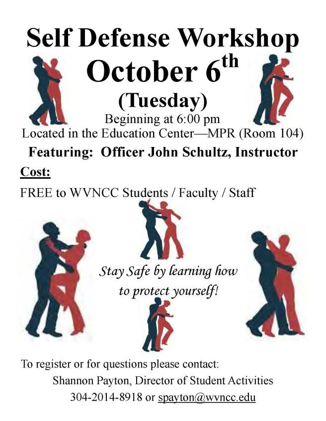 Self Defense Workshop Flier
