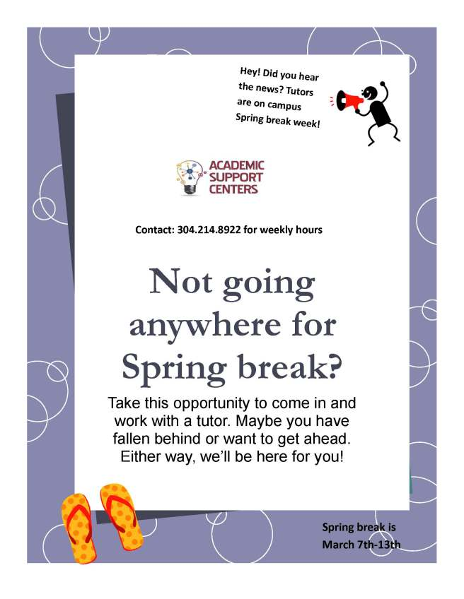 Tutoring Spring Break Flyer