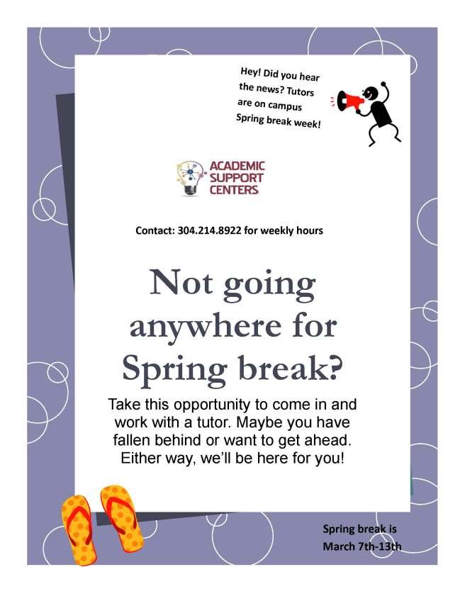 Tutoring Spring Break Flyer