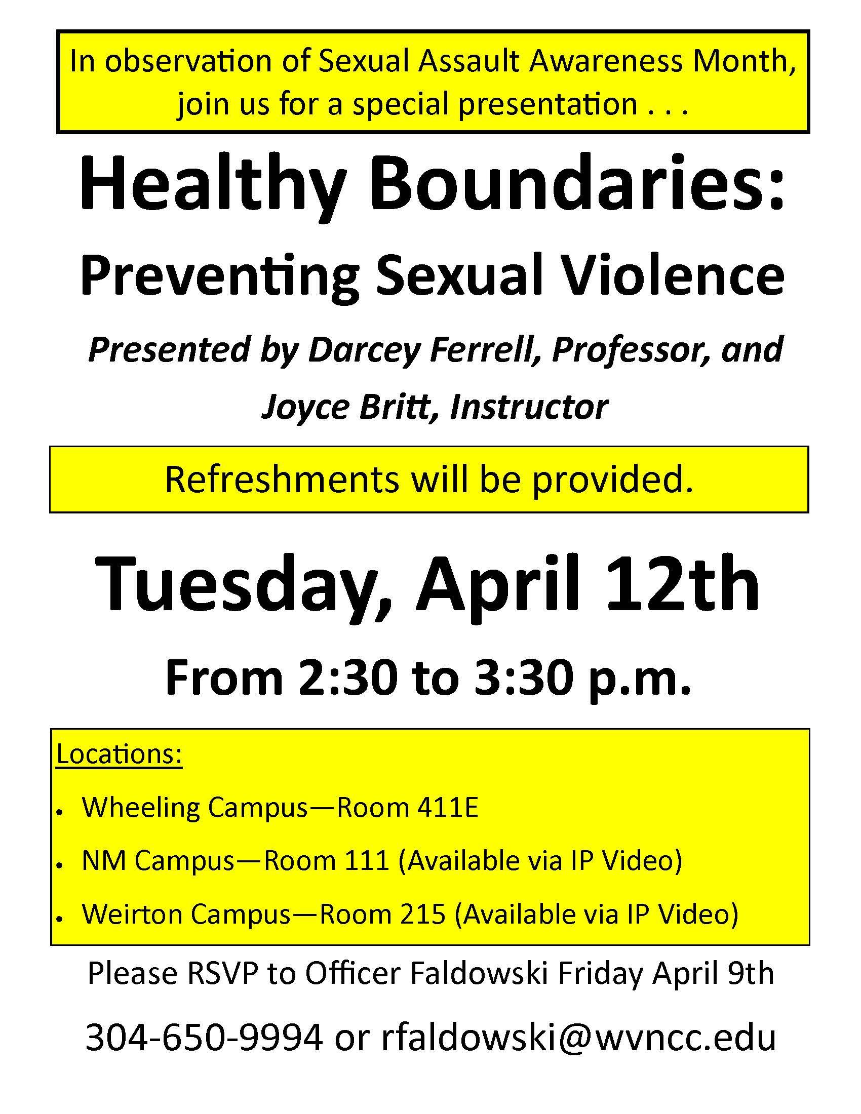 Healthy Boundaries Flyer