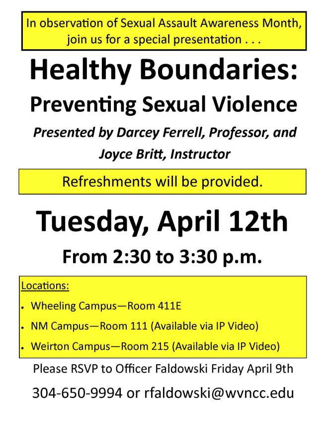 Healthy Boundaries Flyer