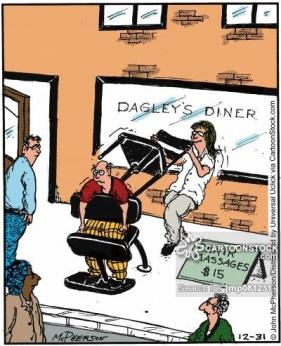 Chair massages.
